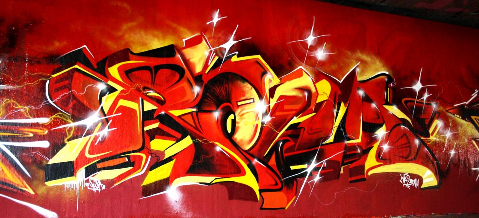 Graffiti Bochum Ruhruni WAS Rowa GBS Crew