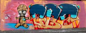 Graffiti Essen GBS WAS AMOS Auf der Donau
