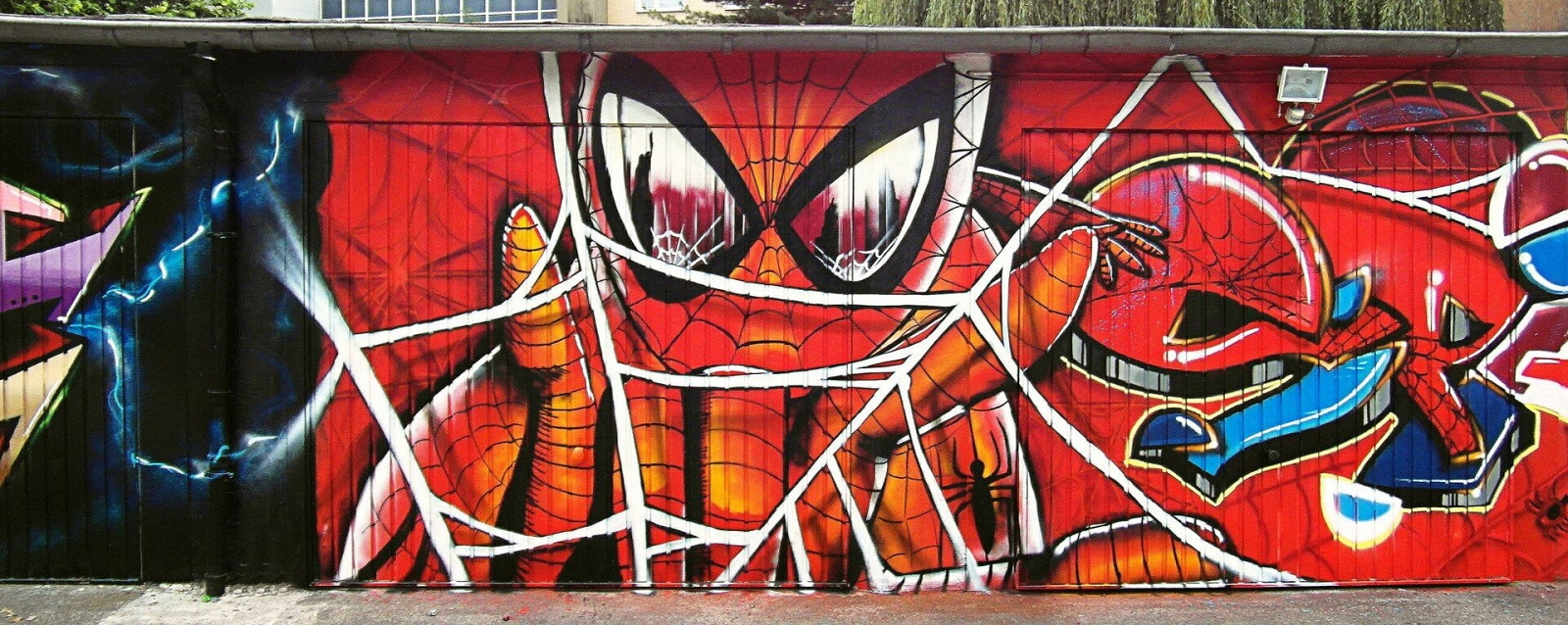 Graffiti Spiderman Gelsenkirchen Garage WAS