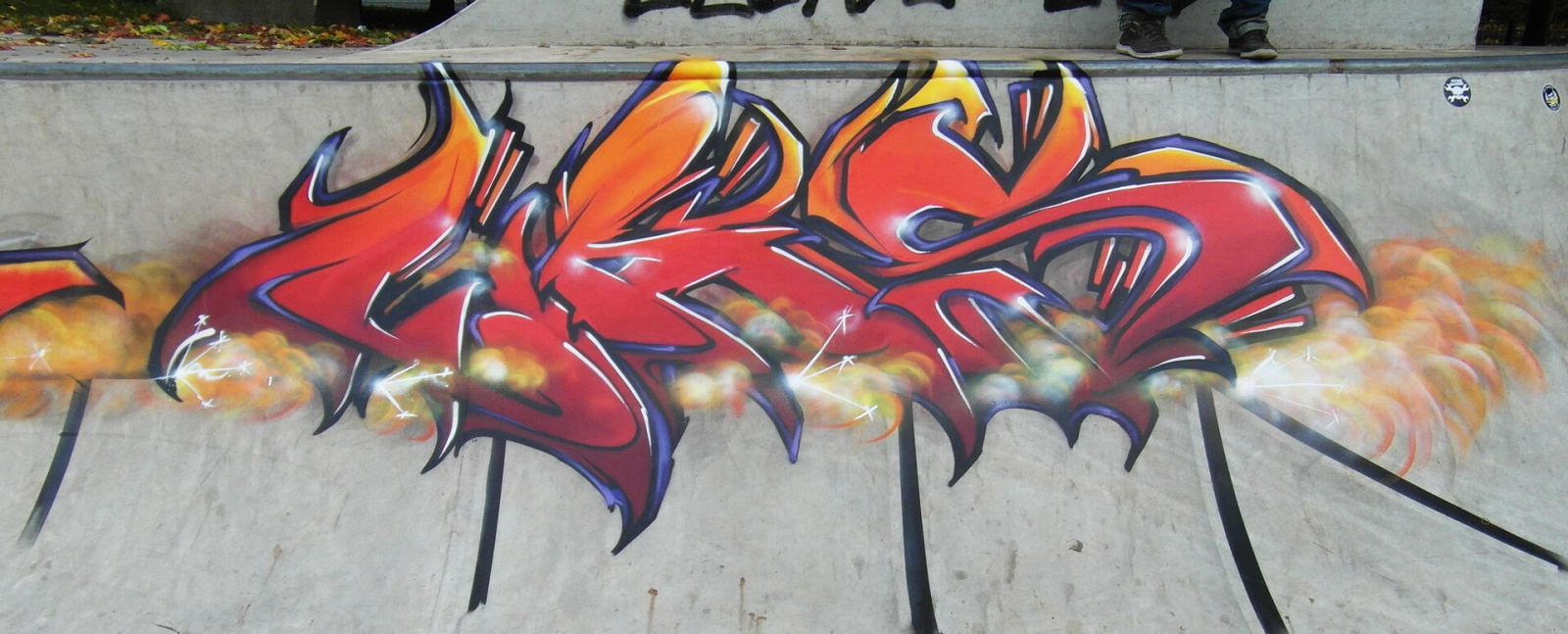 Graffiti in Herne in einem Skaterpark nähe der A42 Autobahn