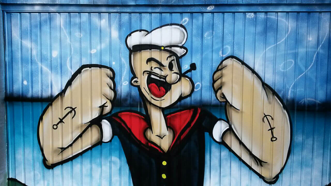 Popeye Graffiti Garage Gelsenkirchen