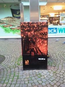 Stadt der 1000 Feuer Graffiti am Stromkasten in Gelsenkirchen