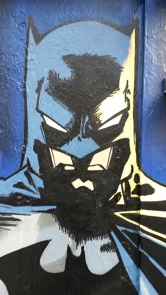 Batman Graffiti Gelsenkirchen Detail