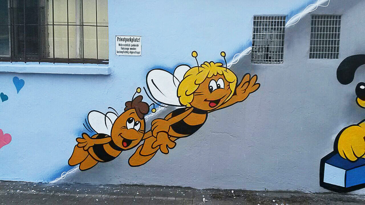 Biene Maja Willi Graffiti Gelsenkirchen