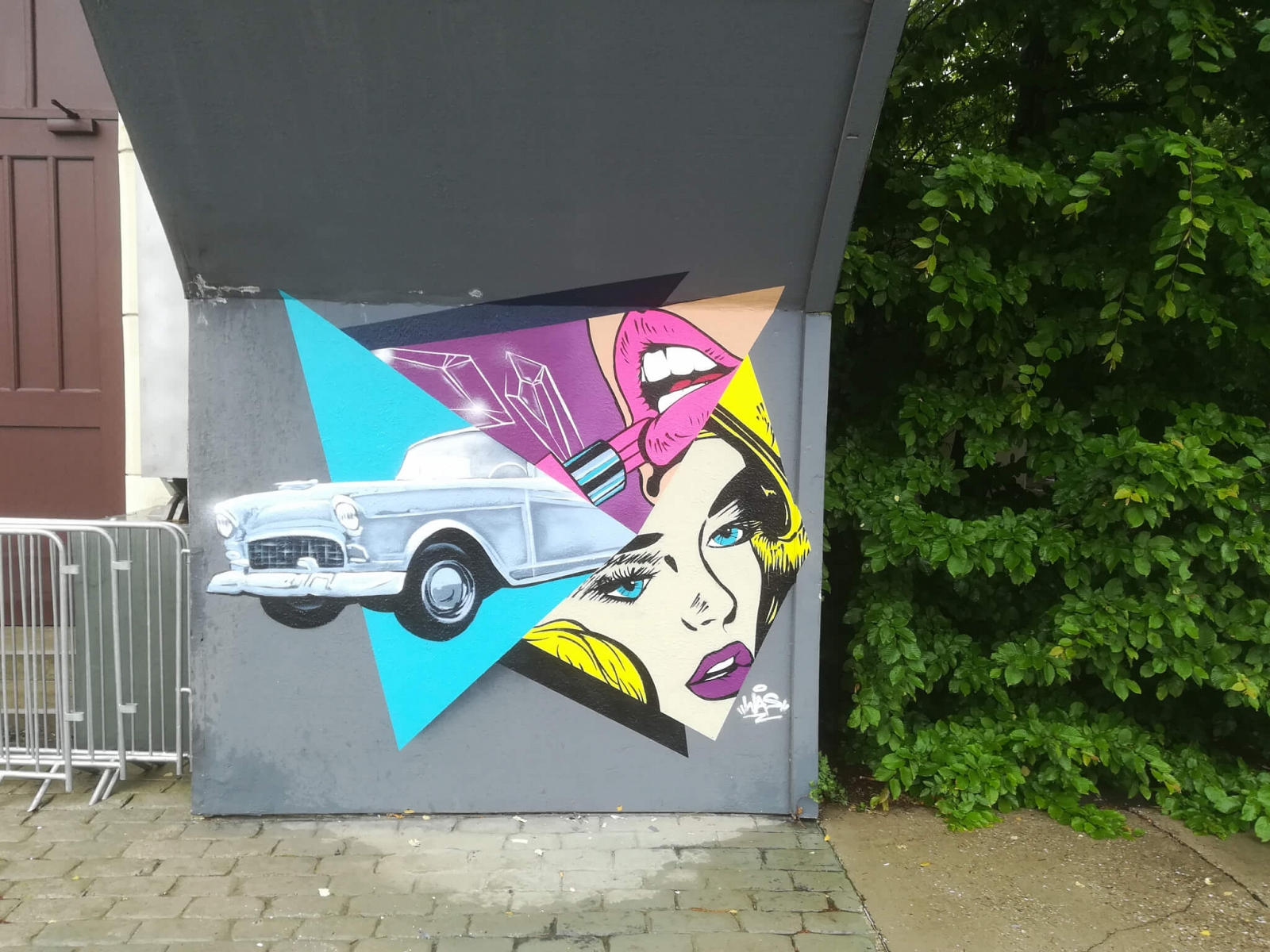 Cadillac Graffiti PopArt Movie Park Bottrop