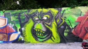 Dinslaken Graffiti Affe Urban Arts Jam