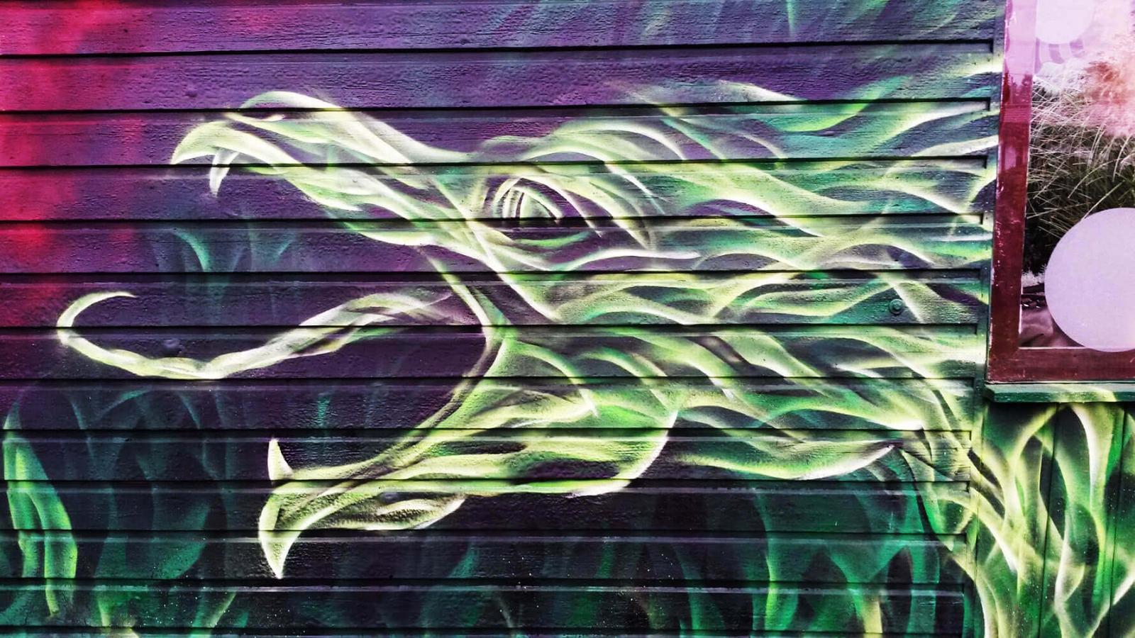 Drache grün Grafitti Kleingarten Gelsenkirchen