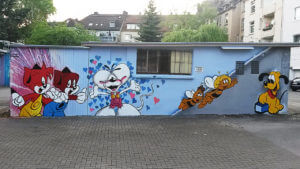Fix und Foxy Diddle Maus Biene Maja Willi Pluto Graffiti_gelsenkirchen