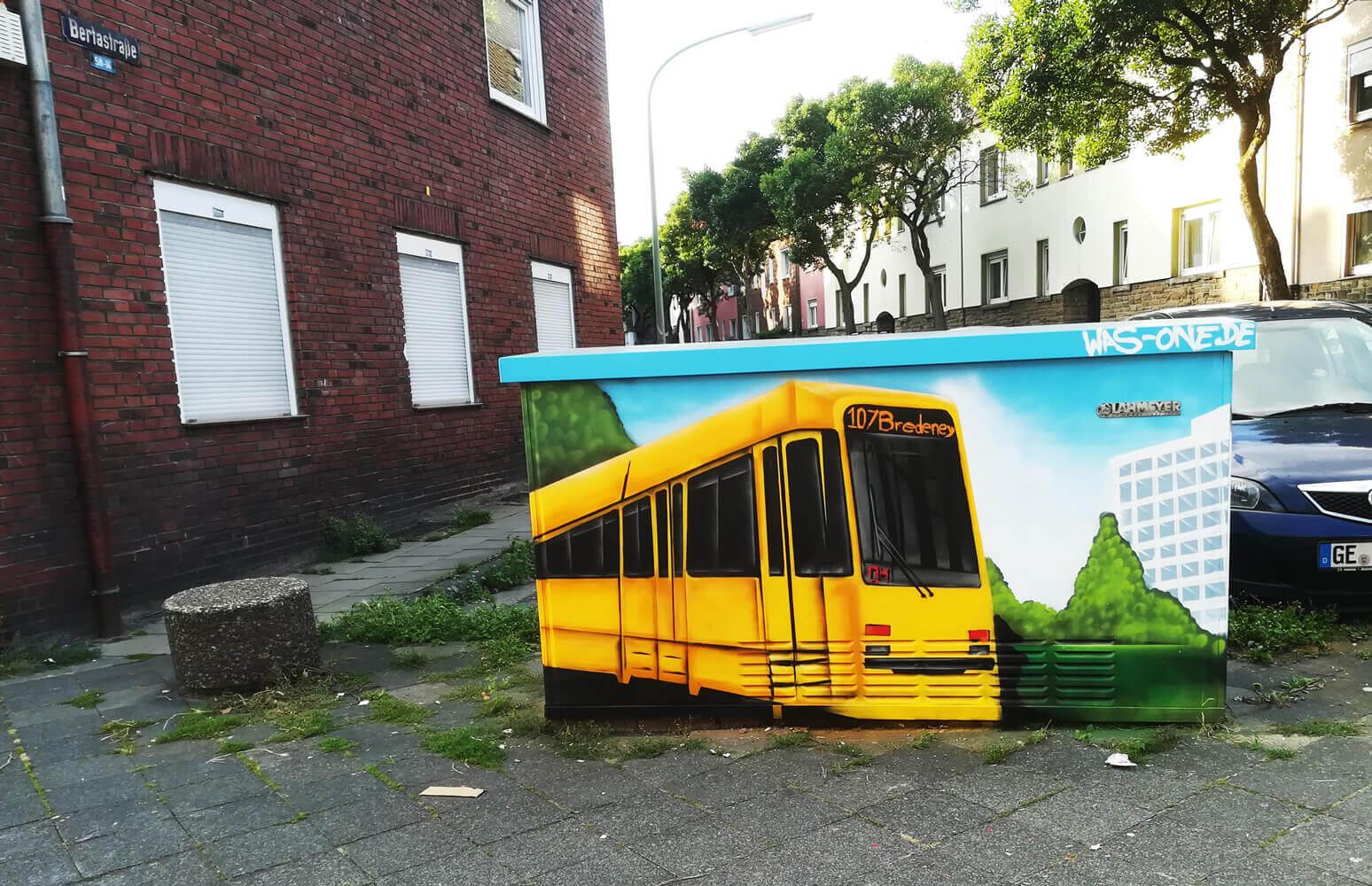 Graffiti Stromkasten 107 Gelsenkirchen-Feldmark Holbeinstraße