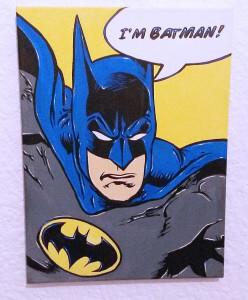Graffiti Batman auf Leinwand - Keilrahmen