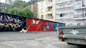 Graffiti Gelsenkirchen Garagen Entstehung
