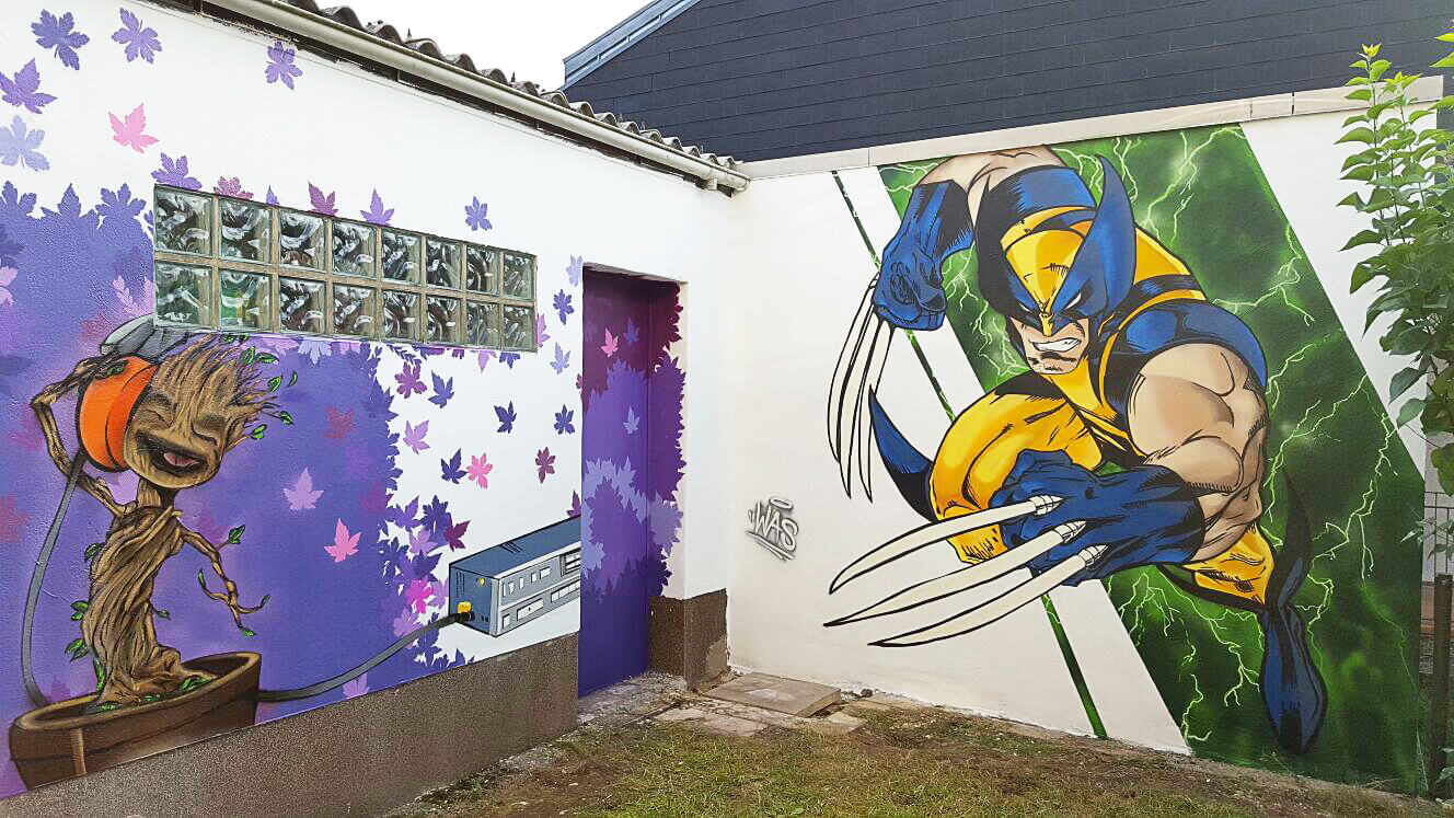 Groot Guardians of the Galaxy Wolverine X-Men Graffiti