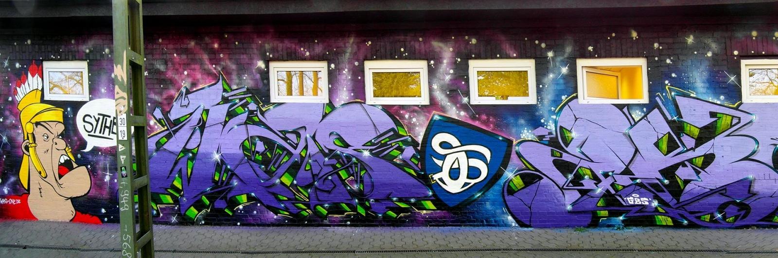 Graffiti in Haltern Systen Bahnhof Gestaltung