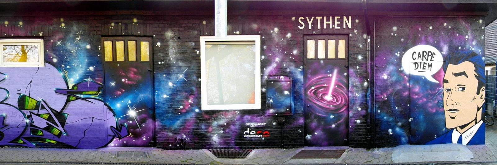 Graffiti in Haltern Systen Bahnhof Gestaltung Carpe Diem