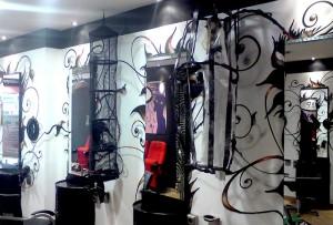 Graffiti beim Friseur Headfactor Gelsenkirchen Haare