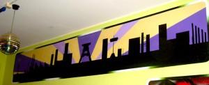 Graffiti im Jugendhaus Villa in Gelsenkirchen Hessler Skyline und Werke