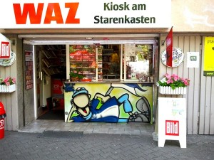 Schalke Graffiti beim Kiosk am Starrenkasten