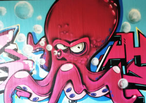 Kraken Graffiti Bochum NS7 Brücke