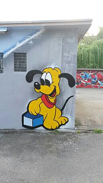 Pluto Walt Disney Graffiti Gelsenkirchen