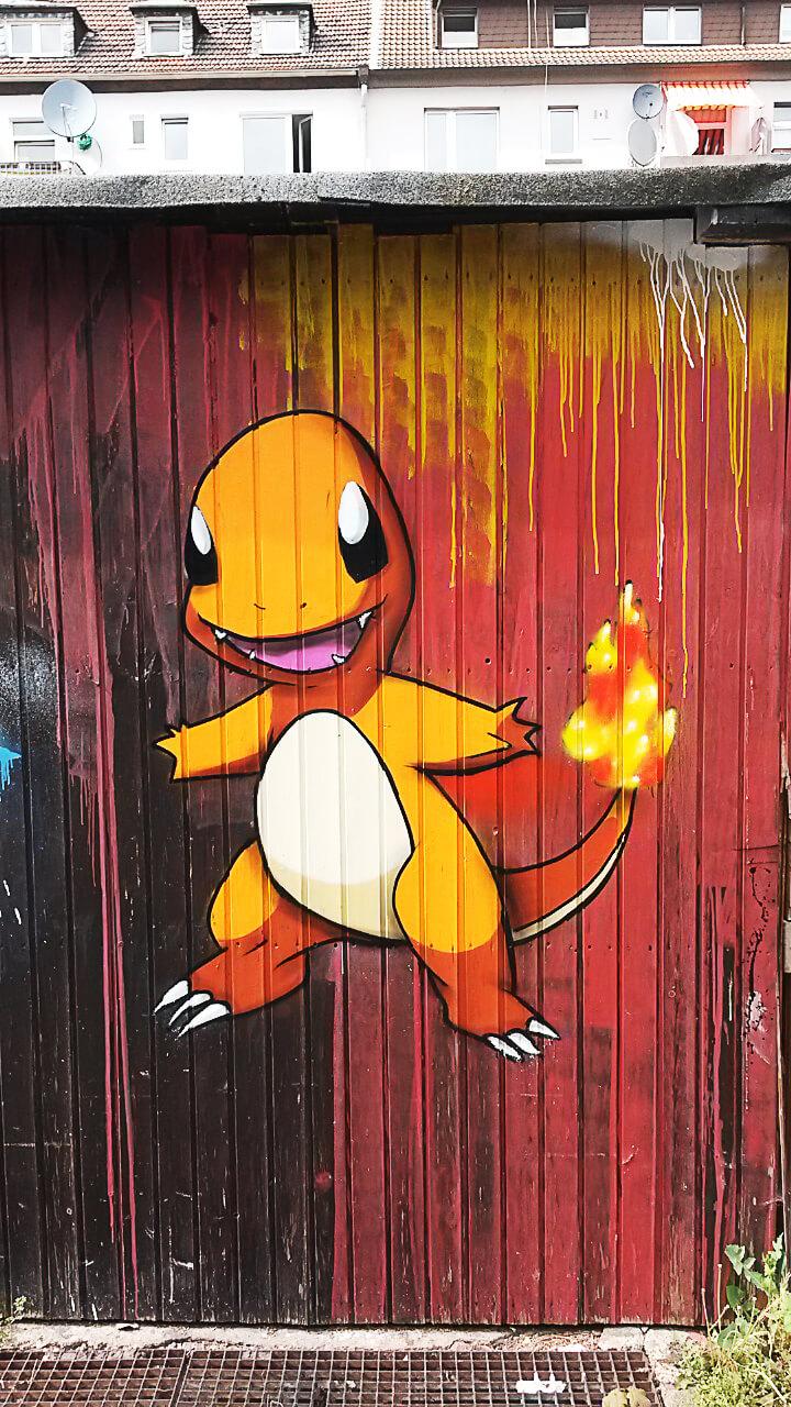 Pokemon Glumanda Graffiti Gelsenkirchen Wannerstrasse