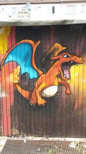 Pokemon Glurak Graffiti Gelsenkrichen Innenstadt