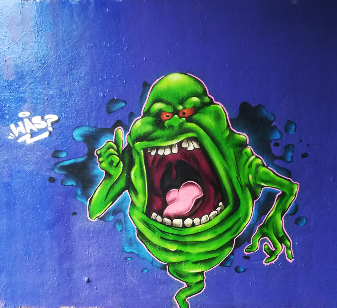 Slimer Graffiti Ghostbuster Essen A40
