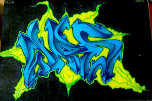 was graffiti 3d sketch essen background blackbook