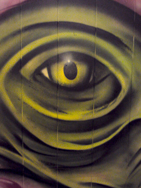 Graffiti Dorsten Echse Auge Gladbeck