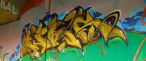 Graffiti im Ruhr Uni Tunnel in Bochum