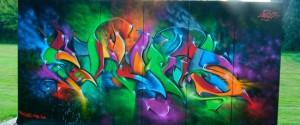Graffiti in Bottrop Wellheim am Skaterpark