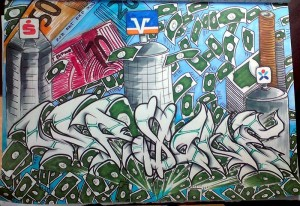 "Graffiti im Blackbook ""I need a Dollar - Aloe Blacc"""