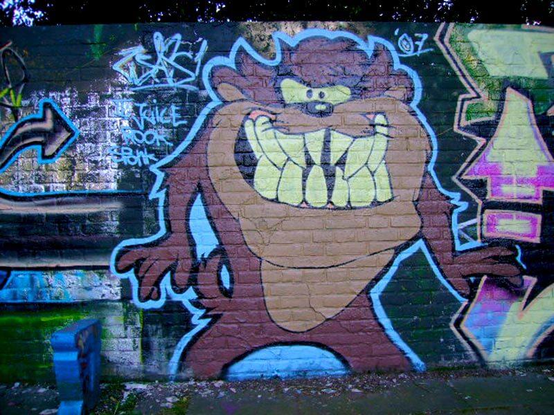 Graffiti in Gelsenkirchen Buer Tasmanische Teufel