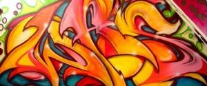 Graffiti in der Wohnung in Gelsenkirchen