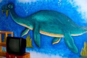 Dionsaurier gesprüht im Kinderzimmer in Gelsenkirchen